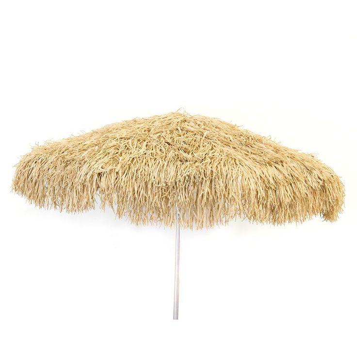 Palapa Tiki Umbrella 6-foot Patio Umbrella Pole (Palapa 6'-Brown- Bar Height Pole), Brown (Aluminum) #1248-1268