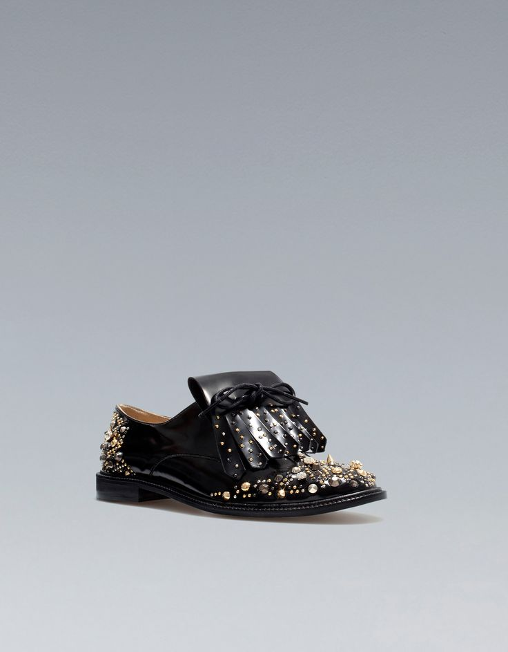 Zara Croc Pattern Moccasin in Black (not available) | Lyst