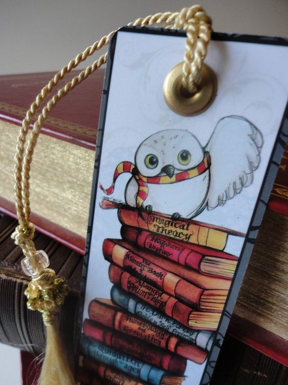 Harry Potter Bookmark by SamSkyler on Etsy                                                                                                                                                      More