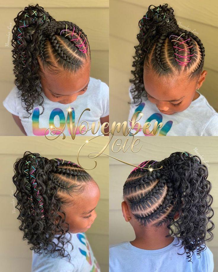 Boho Large Feed In Ponytail Booking Link In Bio Ghanabraids Curlybraids Boh Bio Coiffures Pour Enfant Tresses De Cheveux Naturels Coiffure Fillette