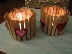 Candelabros de San Valentín - Manualidad fácil de hacer con niños www.sabiduriademami.com
