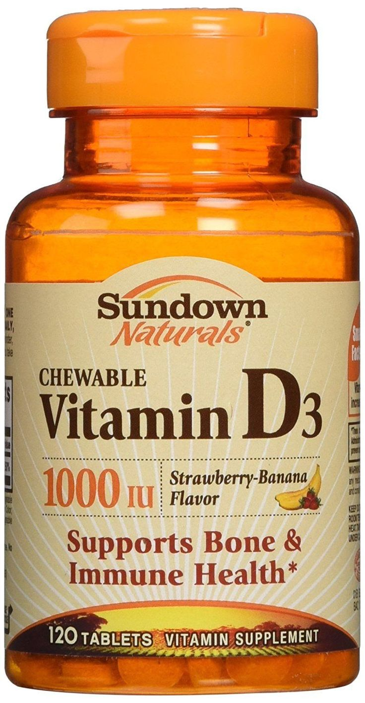 Sundown Naturals Vitamin D3 1000 Iu. 120 Chewable Tablets