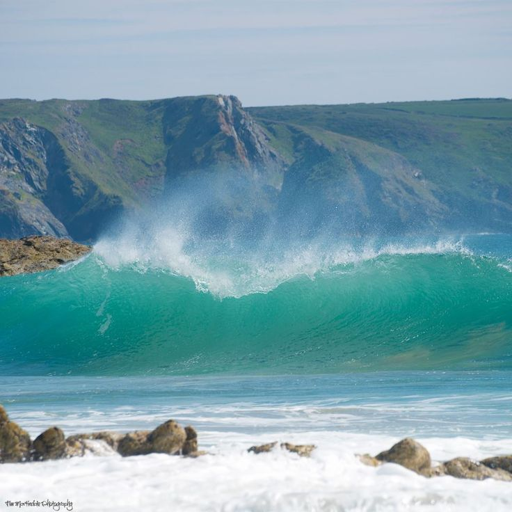 Waves breaking at Dollar Cove (location of Poldark's shipwreck scene) by Tim Martindale