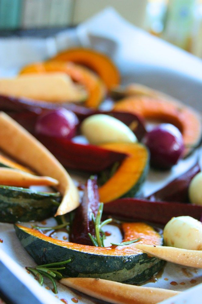 Balsamic baked vegetable / Čočka s pečenou balsamicovou zeleninou