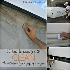 How to Clean & Care for Your Pop Up Camper Exterior:  Proper maintenance is essential to the long life of your tent camper.  Here's how to keep your pop up looking brand new.