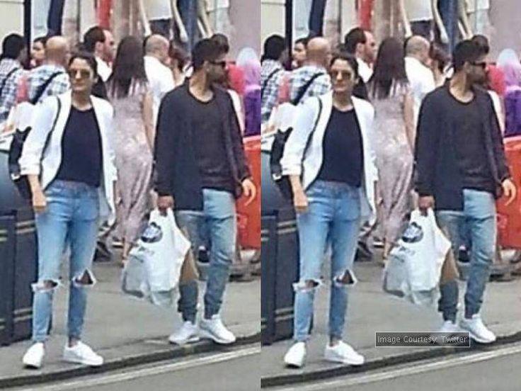 PIC: Anushka Sharma - Virat Kohli sport matching attire in London