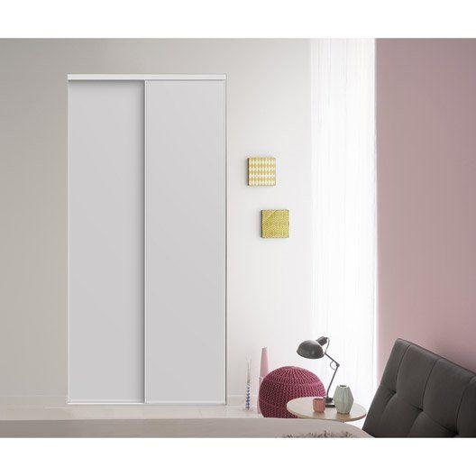 Lot de 2 portes de placard coulissantes, blanc, 246x120 cm