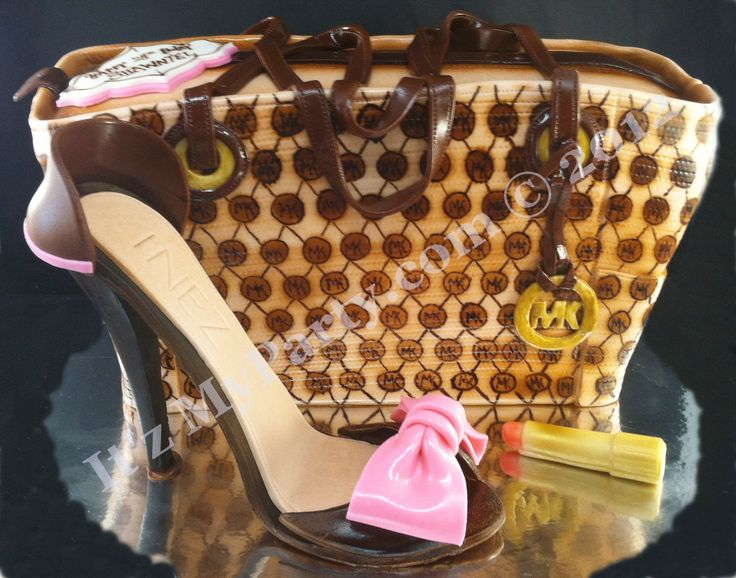 Dimensional MK Purse Cake with matching sugar shoe