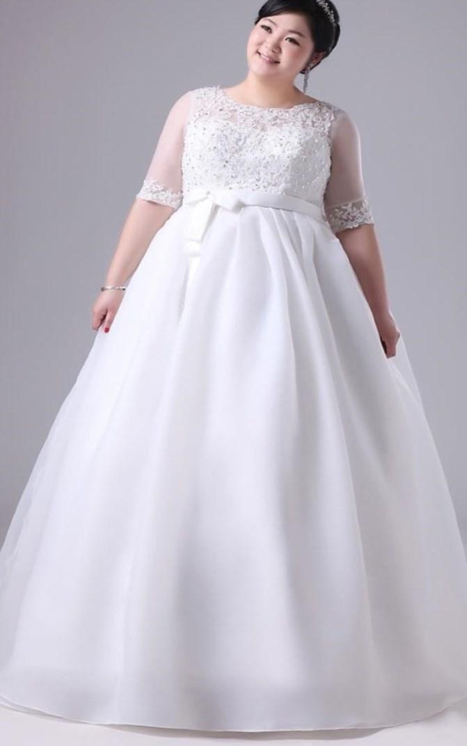 Купить свадебное платье для полных - http://1svadebnoeplate.ru/kupit-svadebnoe-plate-dlja-polnyh-2838/ #свадьба #платье #свадебноеплатье #торжество #невеста