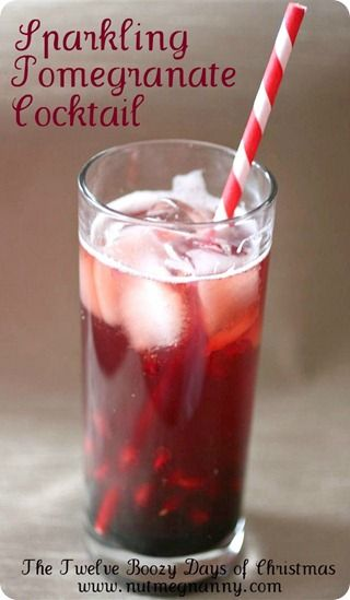 """Pomegranet cocktail - we're going to call this """"First Kiss"""" and make it our signature cocktail."""