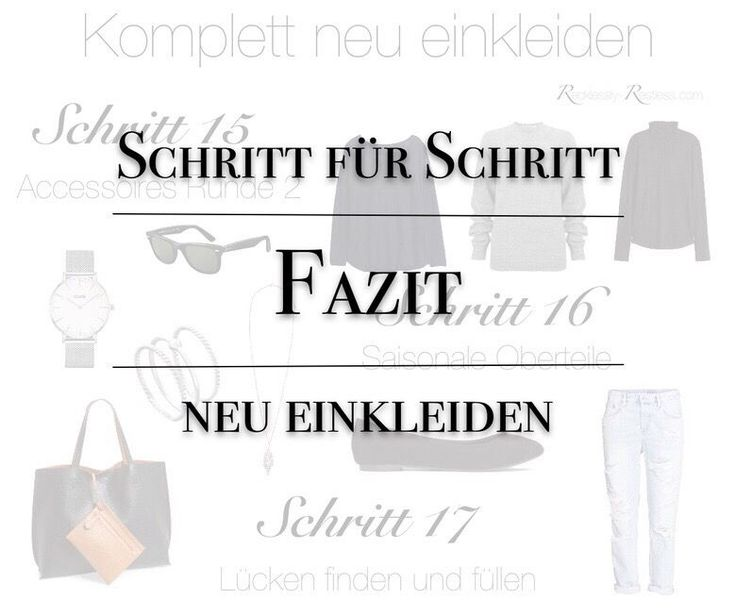 Meine kleine Anleitung für eine minimalistische Garderobe - auch Capsule Wardrobe genannt - geht zu Ende. Ein Fazit zum minimalistischen Kleiderschrank.
