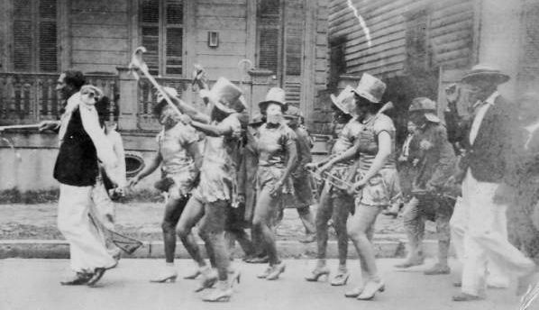 1930 S African American Parade Mardi Gras 1800 S 1952