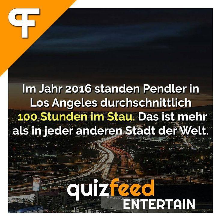 Im Jahr 2016 standen Pendler in Los Angeles durchschnittlich 100 Stunden im Stau. Das ist mehr als in jeder anderen Stadt der Welt. Wissen clever verpackt! . #autos #auto #autofahren #stau #fahren #pendler #pendeln #losangeles #langeweile #warten #freizeit