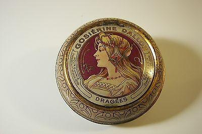 Rare-Ad-Medical-Cocaine-Pellets-Tin-1900s-A-MUCHA-Art-Nouveau-Apotheke-Blechdose