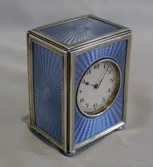 Periwinkle blue box clock