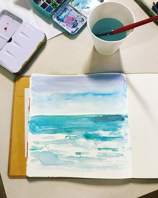 Five Minute Watercolour Inspired By The Glorious Sea Up Here On