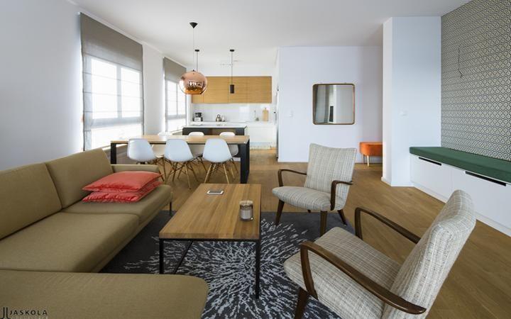 modern livingroom, modern retro