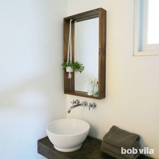 How To Frame A Bathroom Mirror Diy Mirror Frame Bathroom Diy