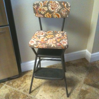 My antique kitchen chair redo. I'm pretty proud of myself for this one.