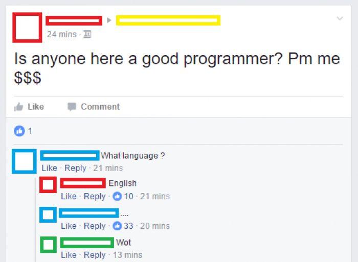 English programming language