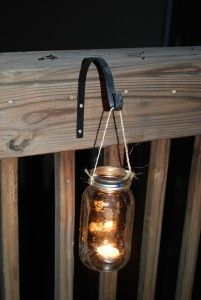 "#10: Mason Jar Outdoor Lighting | 10 Back Deck ""Decorating"" Ideas on a Budget by The Everyday Home"