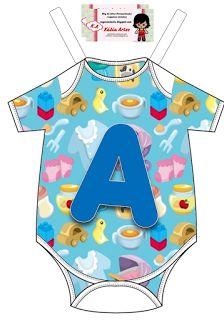 Alfabeto en body de bebé.