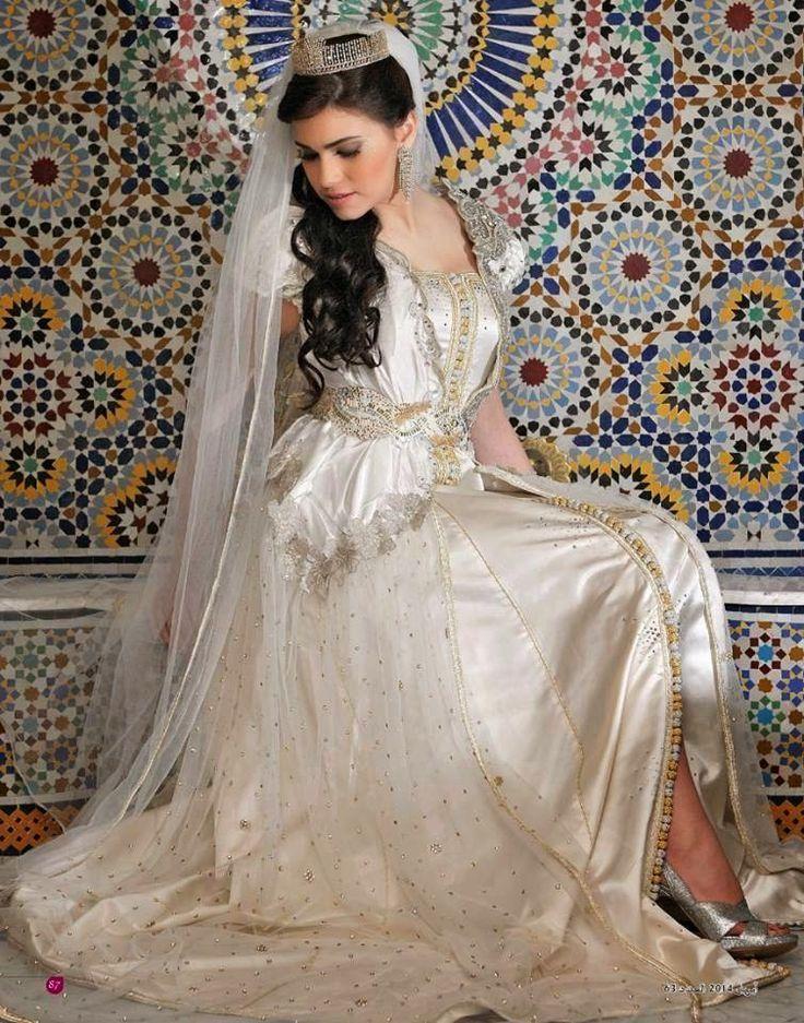 chic caftan marocain blanc 2015 pour mariage spécialement crée pour future mariée qui veut porter un luxe caftan mariage 2015 haute couture réalisé sur mesure par une styliste pro