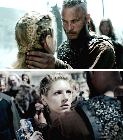 Ragnar + Lagertha = EPIC-Gets me everytime,the hands on the sides of my face.I am owned at that point.