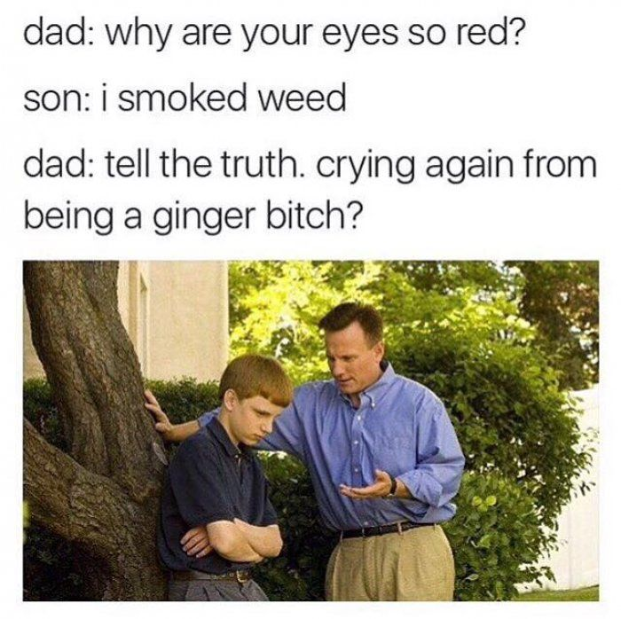Why are your eyes so red - funny ginger meme - https://jokideo.com/why-are-your-eyes-so-red-funny-ginger-meme/