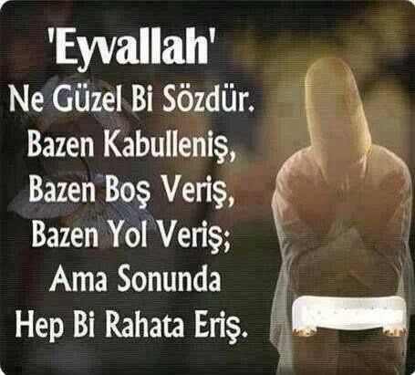 Eyvallah = a) Thankyou b) Thankyou anyway (Thankyou but no) c) Thankyou and farewell