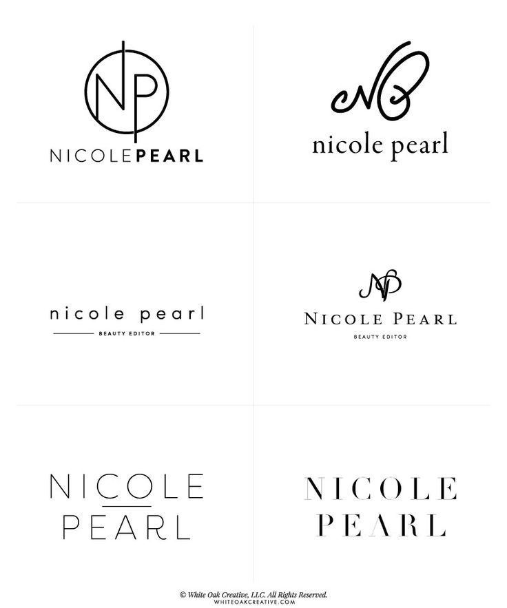 personal branding logos brand graphic beauty font inspiration pearl nicole google web examples name round designer lifestyle fonts idea business