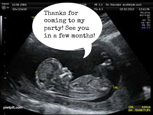 People I Want to Punch in the Throat: Anyone Who Throws an Ultrasound Party (I thought this picture was just a really cute idea for baby shower thank you cards)