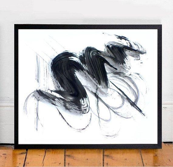 Minimal Art, abstrakt Kunstdruck, druckbare Kunst, schwarz-weiß-Kunst, moderner Wandkunst, digitaler Download, Wand Dekor, schwarz Abstract