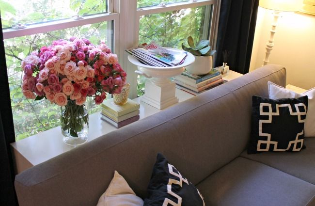 Window Console Table ~ Images about malm occasional table on pinterest