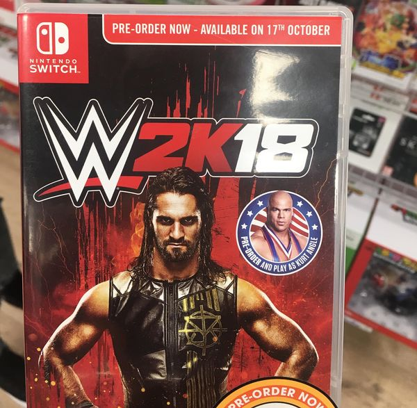 """WWE 2K18 - Another look at in-store promo materials listing Switch release for Oct. 17th   We had already reported on word that in-store promo materials for the Switch version of WWE 2K18 listed the game for release on Oct. 17th and now we have some proof of that. Oddly 2K is still quiet about the release date. The last official update we heard from them put the game in a nebulous """"2017"""" release.  from GoNintendo Video Games"""
