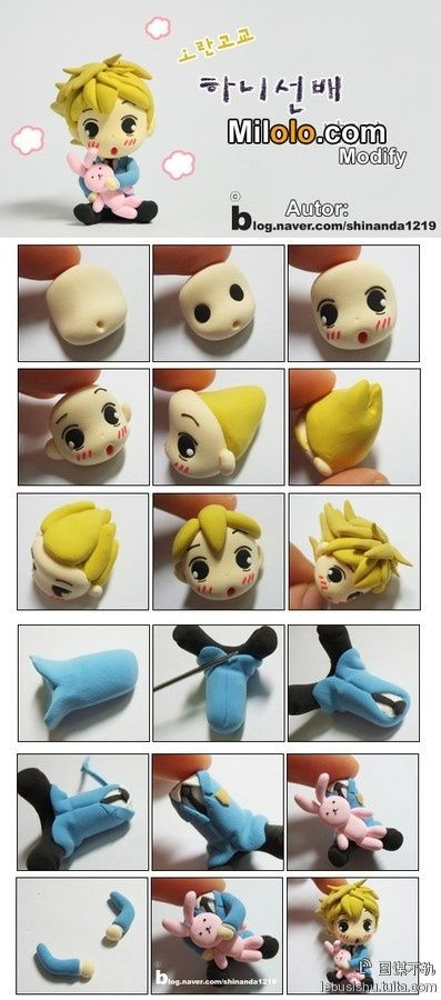 """""""Polymer Clay boy Ouran High School Host Club anime-HONEY!!! Except I think they got the hair wrong...    SO CUTE!! I have Fimo i want to try this now!"""""""