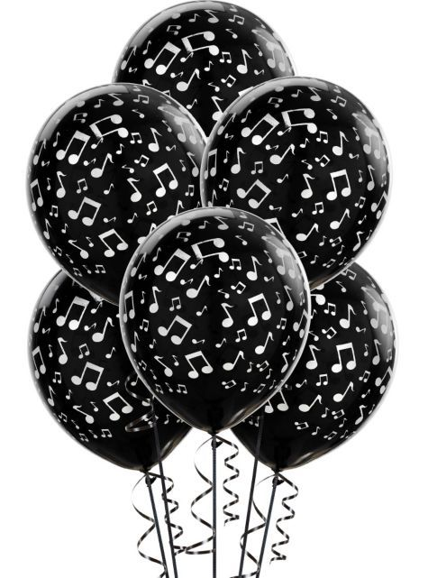 """Musical Notes Latex Balloons 6ct - Party City - $2.99 - 12""""L"""