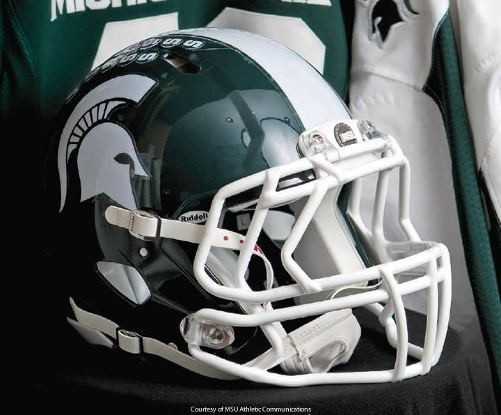 348 best michigan state spartans images on pinterest msu michigan state helmet pix the new helmet with the darker green and tapering white center publicscrutiny Image collections
