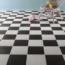 Carrelage sol et mur blanc effet ciment Gatsby l.20 x L.20 cm