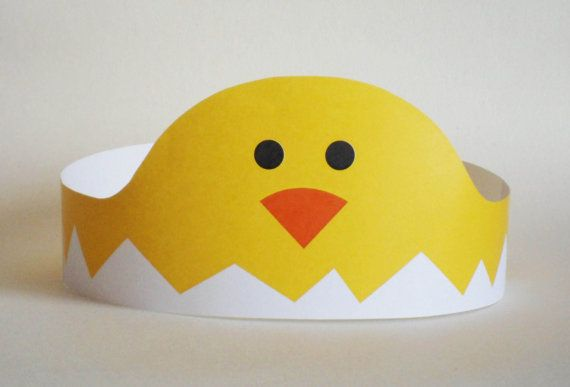 Create your own Chick Crown! Print, cut & glue your chick crown together & adjust to fit anyones head!    • A .pdf file available for instant