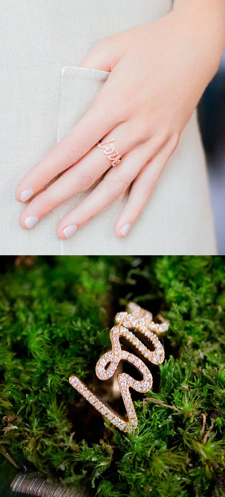 From the famous Paloma's Graffiti collection, a Paloma Picasso® Love ring in 18k rose gold with diamonds.