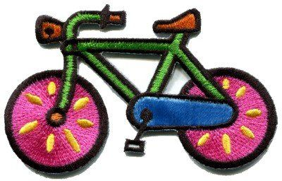 Bicycle Retro Bike Cycle Cyclist 70s Kids Fun Appliques Hat Cap Polo Backpack Clothing Jacket Shirt DIY Embroidered Iron On / Sew On Patch 3 >>> You can find out more details at the link of the image.
