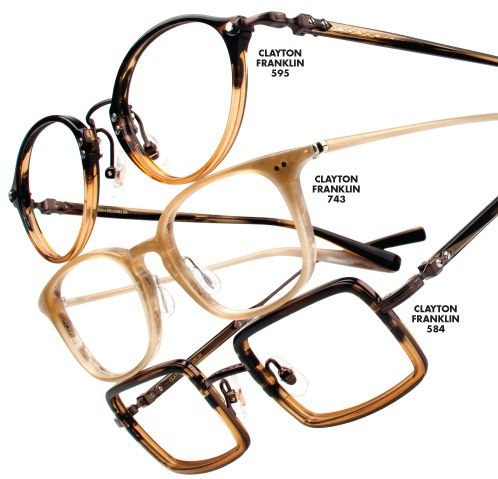 Clayton Franklin Spectacles, a luxury eyewear collection handmade in Japan