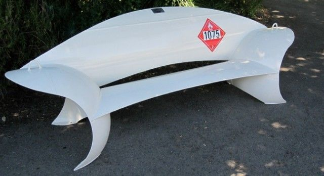 Sculptural Seating Made of Recycled Propane Tanks