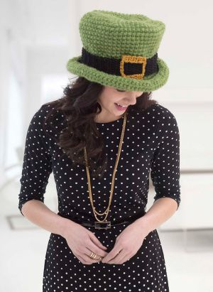 Check out our St. Patrick's Day patterns like this crochet Top of the Morning Hat.