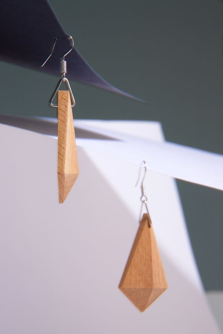 Perfect voor dagelijks gebruik! Geometrische alledaagse oorbellen | houten sierraad door TienZes