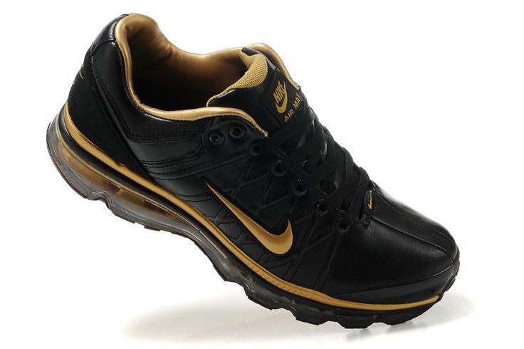 Danmark Billige Nike Air Max 2009 Trainers Mænd - Black/Gold Leather