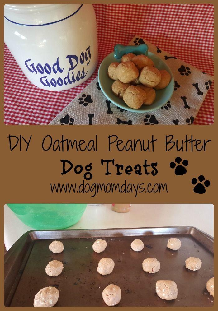 Homemade oatmeal peanut butter dog treats