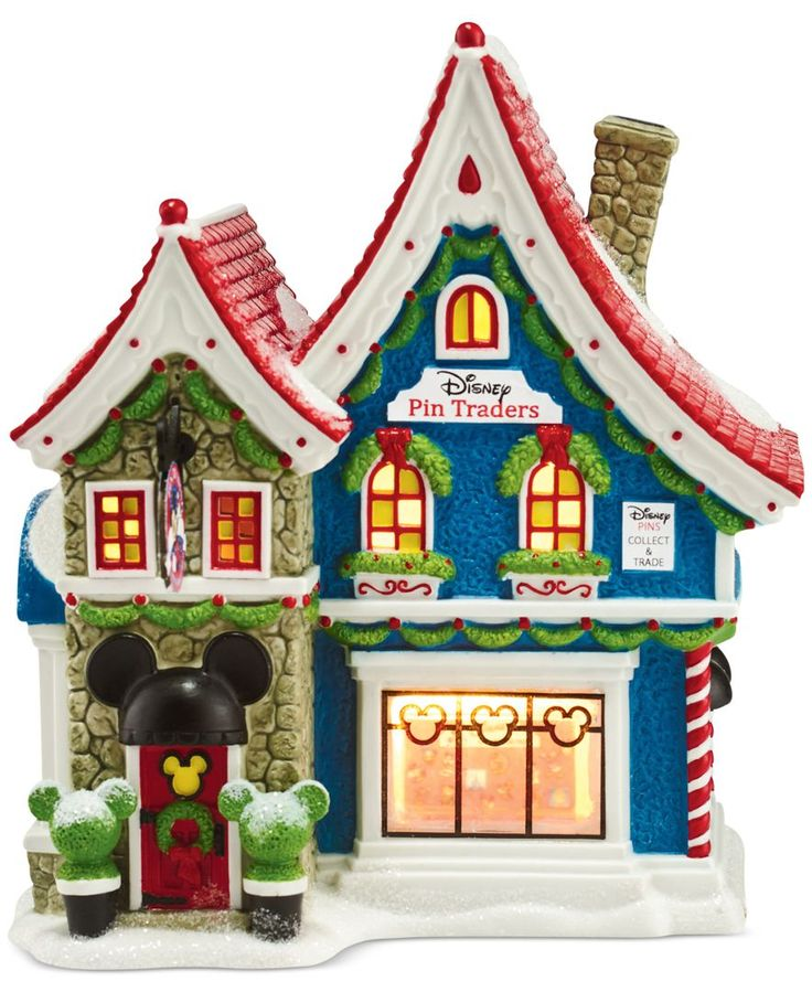Department 56 Mickey's Christmas Village Collection Mickey's Pin Traders