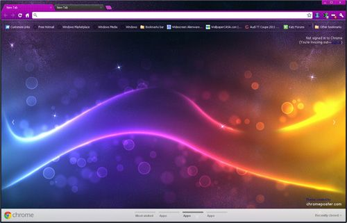 Beautiful Colorful Lights Google Chrome Theme